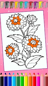 screenshot of Flower Coloring, rose coloring pages version 1.0