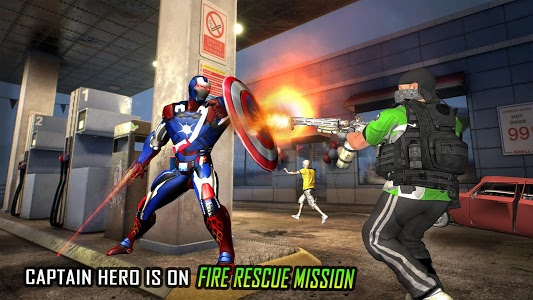 screenshot of Flying Robot Captain Hero City Survival Mission version 2.2