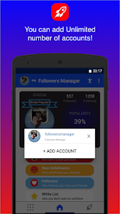 screenshot of Followers Chief version 1.1.6