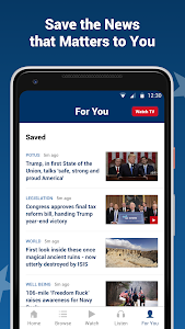 screenshot of Fox News: Breaking News, Live Video & News Alerts version Varies with device