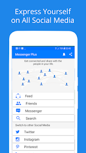 screenshot of Free Messages, Video, Chat,Text for Messenger Plus version 1.3.5