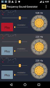 screenshot of Frequency Sound Generator version 2.30