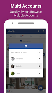 screenshot of Friendly for Facebook version 1.9.12