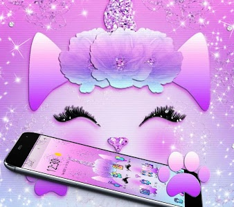 Download Galaxy Cute Unicorn Glitter Theme 1 1 6 Apk