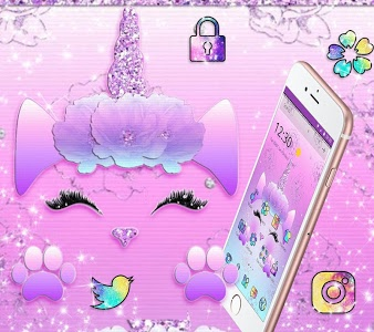 Galaxy Cute Unicorn Glitter Theme+UFYWY4IugM