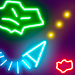 Glow Asteroids Meteor Shooter