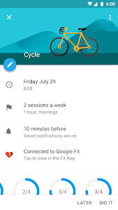 screenshot of Google Calendar version Varies with device