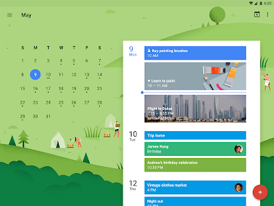 screenshot of Google Calendar version 5.5.15-129963483-release