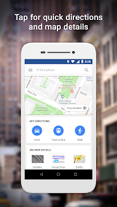 screenshot of Google Maps Go - Directions, Traffic & Transit version 98