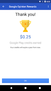 screenshot of Google Opinion Rewards version 2018090624
