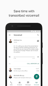 screenshot of Google Voice version 2018.39.213656636