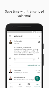 screenshot of Google Voice version Varies with device