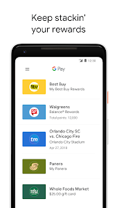 screenshot of Google Pay version Varies with device