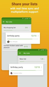 screenshot of Grocery Shopping List - Listonic version 6.13.5
