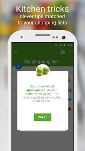 screenshot of Shopping list - Listonic version 5.0.3