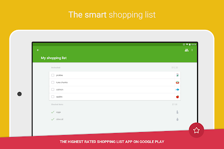 screenshot of Grocery Shopping List - Listonic version 6.32.0