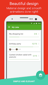 screenshot of Grocery Shopping List - Listonic version 6.10.4