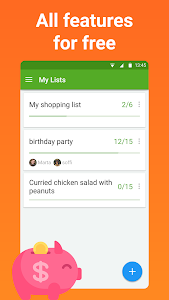 screenshot of Grocery Shopping List - Listonic version Varies with device