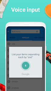 screenshot of Grocery Shopping List - Listonic version 6.22.2