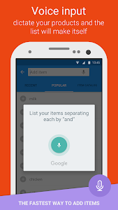 screenshot of Smart Shopping List - Listonic version Varies with device
