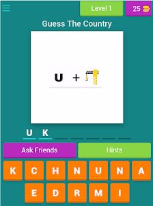 screenshot of Guess The Country By Emoji version 3.1.8z