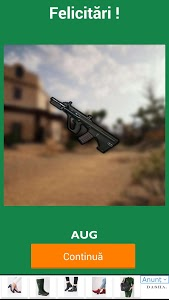 screenshot of Guess the PUBG weapon name. version 4.3.0z