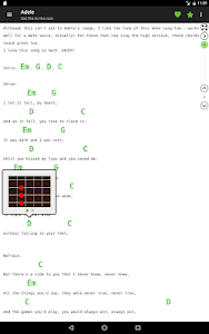 screenshot of Guitar chords and tabs version 2.9.6