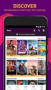 screenshot of HOOQ - Watch Movies, TV Shows, Live Channels, News version Varies with device