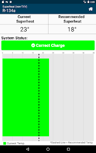 screenshot of HVAC Check & Charge version 2.4.2