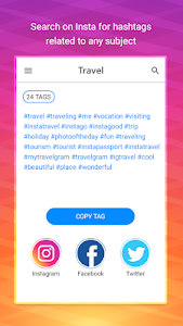 screenshot of Hash Tags For Likes & Followers version 1.3