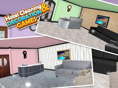 screenshot of Hotel Cleaning & Decorating Game version 1.0