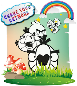 screenshot of How To color Angry birds kids coloring game version 1.1