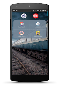 screenshot of IRCTC Rail Connect version 2.1.45