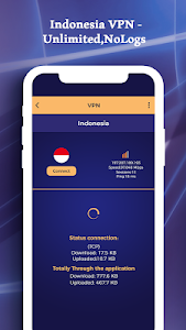 screenshot of Indonesia VPN - Unlimited, NoLogs version 1.0