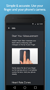 screenshot of Instant Heart Rate: HR Monitor & Pulse Checker version Varies with device