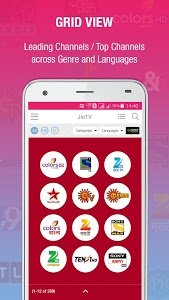 screenshot of JioTV Live Sports Movies Shows version 4.1.26