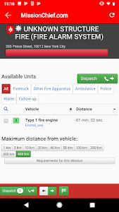 screenshot of MissionChief - 911 Dispatcher version Varies with device