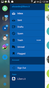 screenshot of Libero Mail version Varies with device