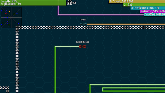 screenshot of Light-Bikes.io version 2.4.6