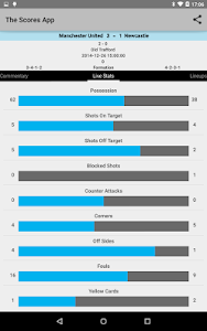 screenshot of Live Soccer Scores version 1.4.4