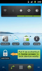 screenshot of Lock Screen App version 1.14