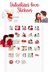 screenshot of Love and Romantic Stickers Packs - (WAStickerApps) version 1.0.0