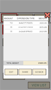 screenshot of Lumber weight version 1.0