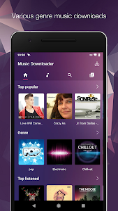 screenshot of MP3 Music Downloader & Free Music Download version 1.1.0