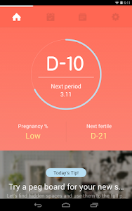 screenshot of Once -A special period tracker version 4.8.8