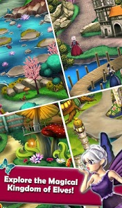 screenshot of Mahjong Magic Worlds: Journey of the Wood Elves version 1.0.61