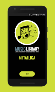 screenshot of Metallica Music Library (Unofficial) version 1.0