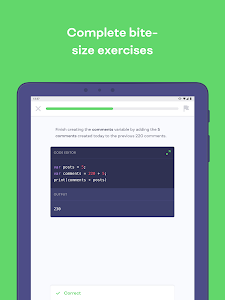 screenshot of Mimo: Learn to Code version 2.0.1