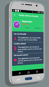 screenshot of Mobile Antivirus Security version 1.1