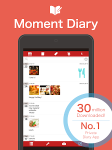 screenshot of Moment Diary version 8.0.1